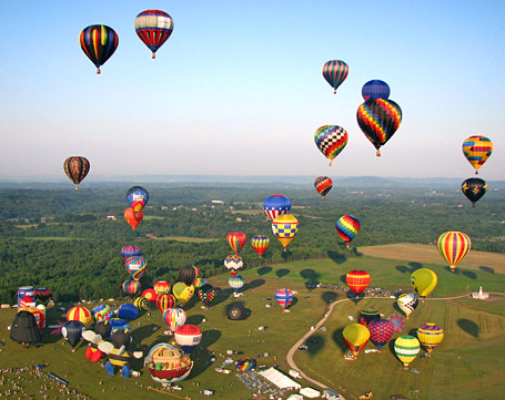 Hunterdon Hills Playhouse hot air balloon liftoff